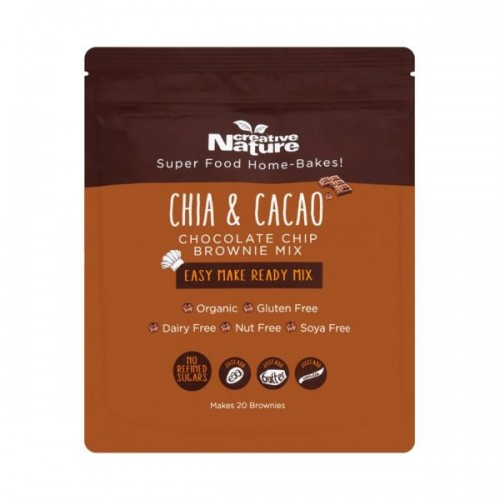 Creative Nature - Chia And Cacao Chocolate Chip Brownie Mix 400g
